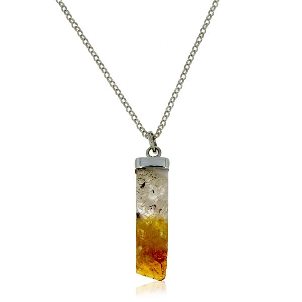 Onatah Sterling Silver Square Citrine Crystal Pendant Georgies Fine Jewellery Narooma, New South Wales