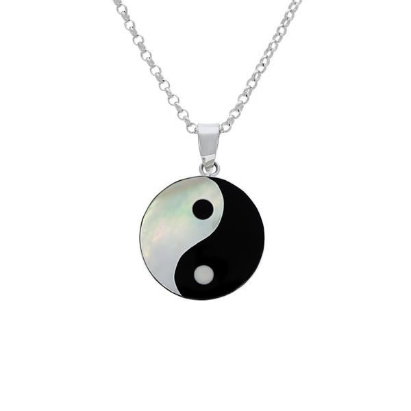 Sterling Silver Round Bezel Set Yin Yang Pendant Georgies Fine Jewellery Narooma, New South Wales