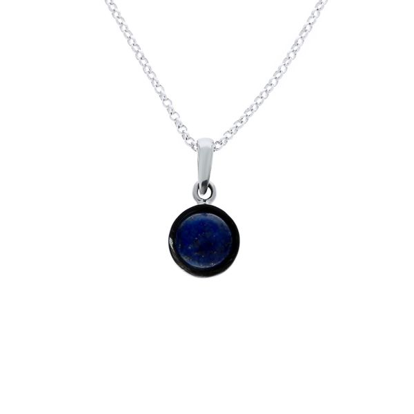 Silver Round Lapis Lazuli Pendant Georgies Fine Jewellery Narooma, New South Wales