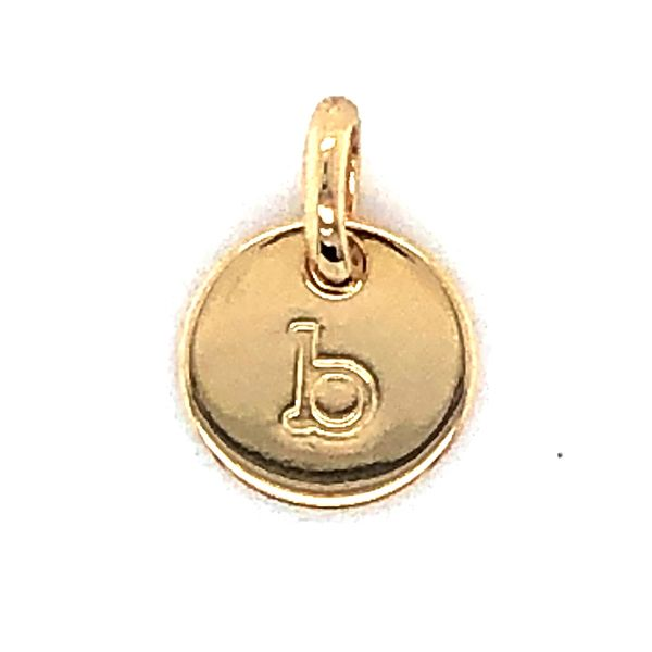 Onatah Mojo 18Ct 3 Micron Gold Plated Brass Initial B Charm Pendant Georgies Fine Jewellery Narooma, New South Wales