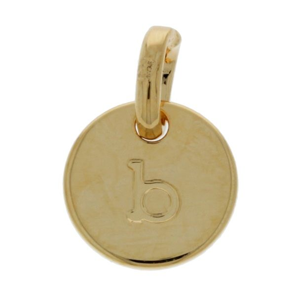 Onatah Mojo 18Ct 3 Micron Gold Plated Brass Initial B Charm Pendant Image 2 Georgies Fine Jewellery Narooma, New South Wales