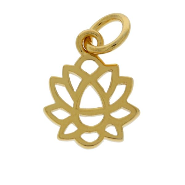Mojo Yellow Gold Plated Lotus Flower Charm Georgies Fine Jewellery Narooma, New South Wales