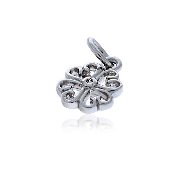 Mojo Silver Shamrock Charm With CZ Image 2 Georgies Fine Jewellery Narooma, New South Wales