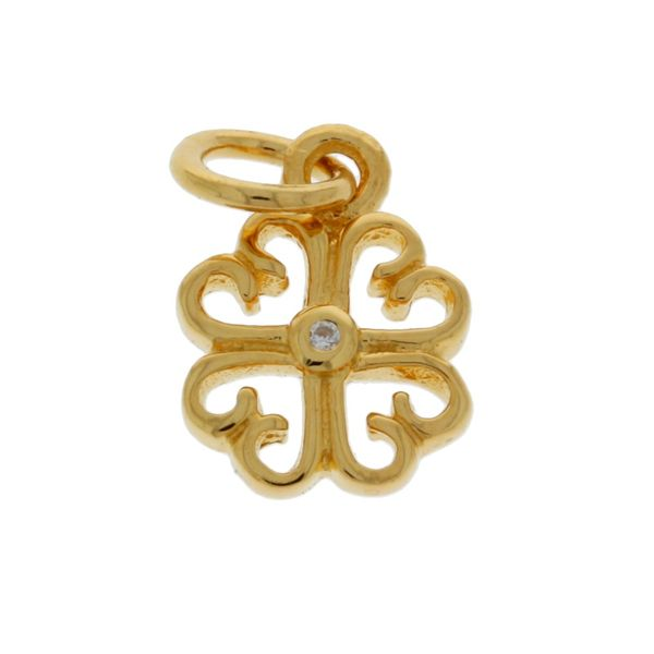 Mojo Yellow Gold Plated Filigree Shamrock Charm Georgies Fine Jewellery Narooma, New South Wales