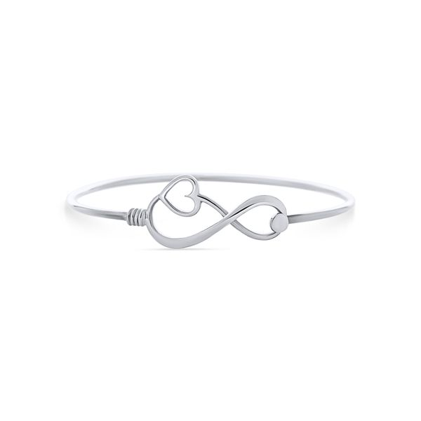 Silver Infinity And Heart Bangle Image 2 Georgies Fine Jewellery Narooma, New South Wales