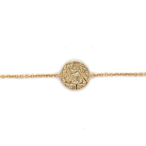 Mojo Gold Plated Bracelet With A Disc Featuring An Egyptian Dog Georgies Fine Jewellery Narooma, New South Wales