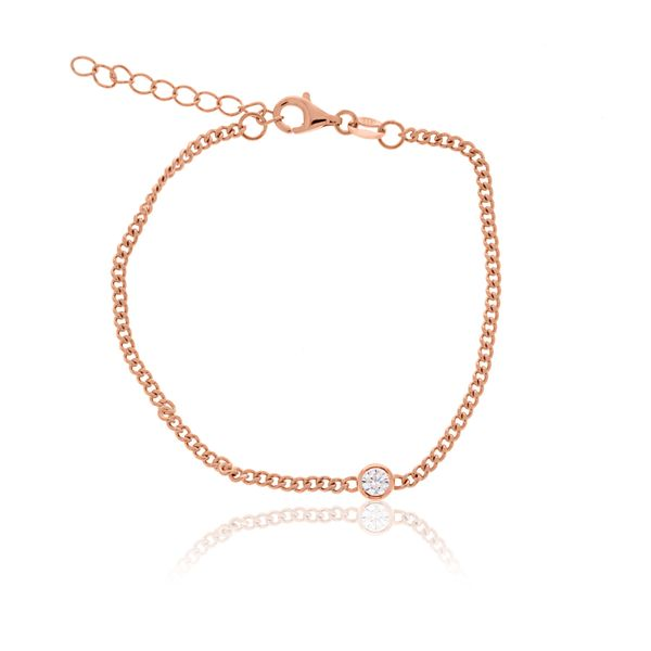 Rose Gold Plated Diamond Cut Curb Bracelet Georgies Fine Jewellery Narooma, New South Wales