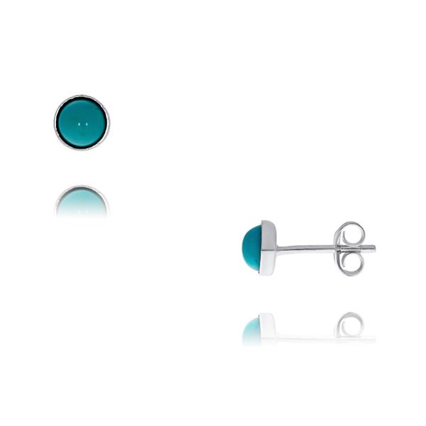 Sterling Silver Small Turquoise Cabachon Studs Georgies Fine Jewellery Narooma, New South Wales