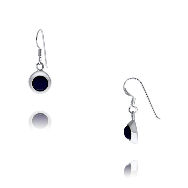 Silver Round Wide Drop Lapis Earrings Georgies Fine Jewellery Narooma, New South Wales
