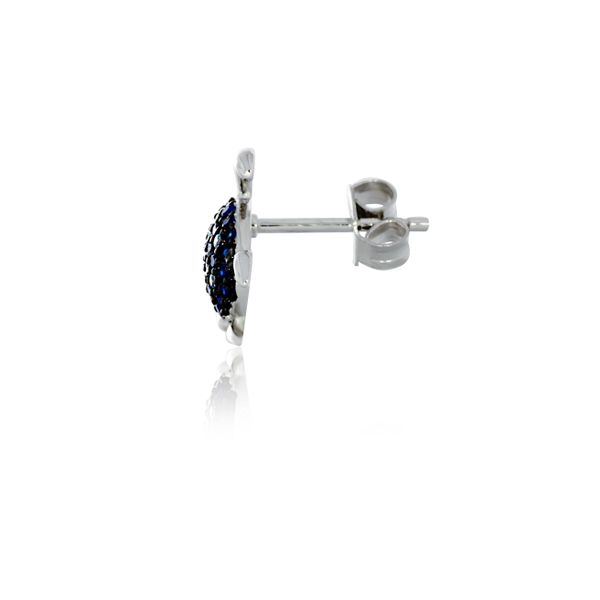 Sterling Silver Rhodium Plated Blue Cz Set Turtle Stud Earrings Georgies Fine Jewellery Narooma, New South Wales