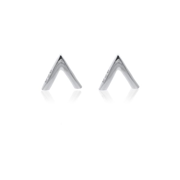 Silver V Stud Earrings Image 2 Georgies Fine Jewellery Narooma, New South Wales