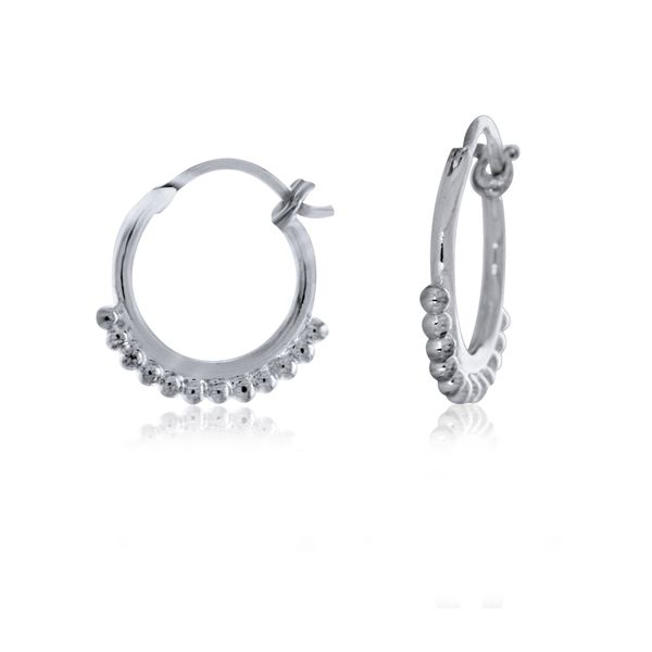 Sterling Silver Small Hoops With Ball Detail Georgies Fine Jewellery Narooma, New South Wales