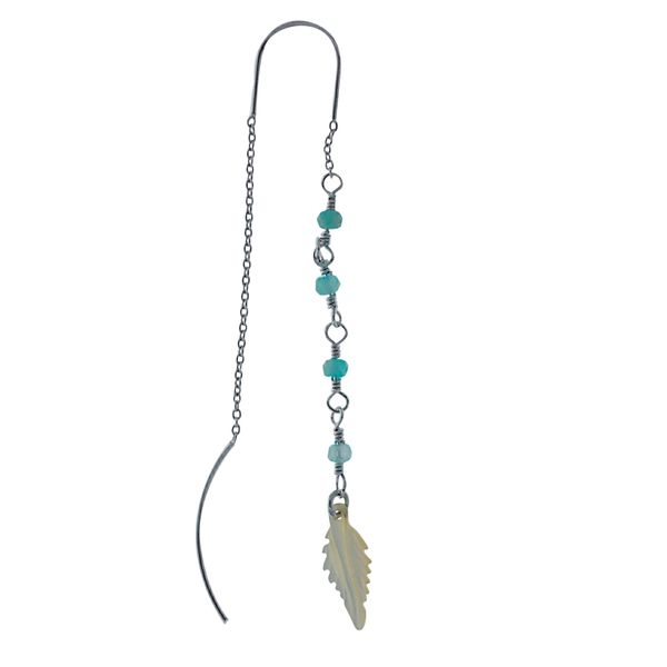 Silver Thread Earrings With Amazonite Beads Image 2 Georgies Fine Jewellery Narooma, New South Wales