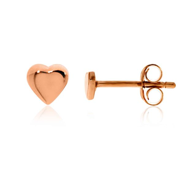 Mojo Rose Gold Plated Tiny Heart Studs Georgies Fine Jewellery Narooma, New South Wales
