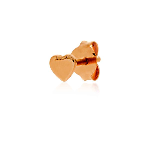 Mojo Rose Gold Plated Tiny Heart Studs Image 4 Georgies Fine Jewellery Narooma, New South Wales