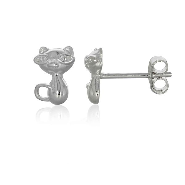Sterling Silver Cat Stud Earrings Georgies Fine Jewellery Narooma, New South Wales