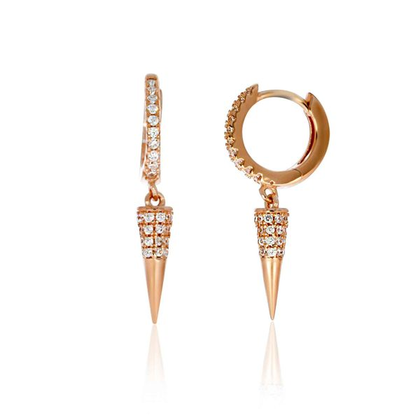 Rose Gold Plated CZ Spike Drop Earrings Georgies Fine Jewellery Narooma, New South Wales