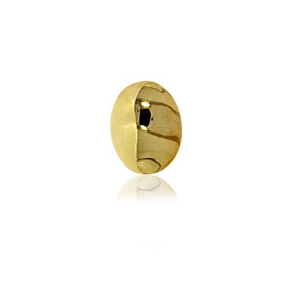 Yellow Gold Plated Plain Oval Stud Earrings Image 4 Georgies Fine Jewellery Narooma, New South Wales
