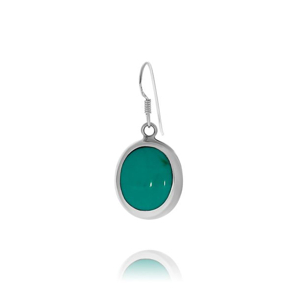 Onatah Sterling Silver Oval Shaped Turquoise Drop Earrings Image 2 Georgies Fine Jewellery Narooma, New South Wales