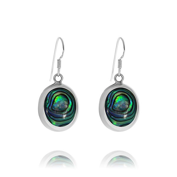 Onatah Sterling Silver Oval Shaped Paua Shell Drop Earrings Georgies Fine Jewellery Narooma, New South Wales