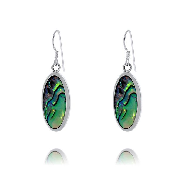 Onatah Sterling Silver Long Oval Shaped Paua Shell Drop Earrings Georgies Fine Jewellery Narooma, New South Wales