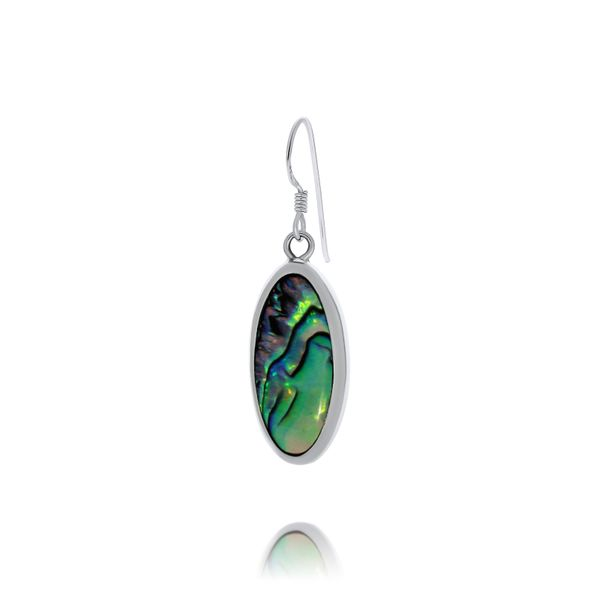 Onatah Sterling Silver Long Oval Shaped Paua Shell Drop Earrings Image 2 Georgies Fine Jewellery Narooma, New South Wales