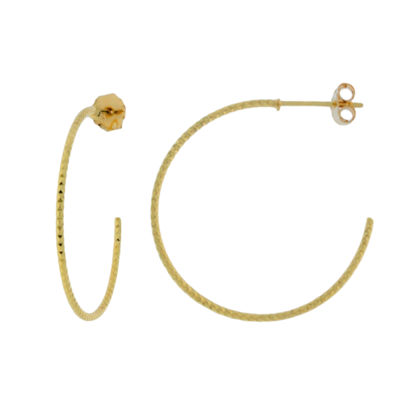 Onatah Mojo Gold Faceted Stud Hoops Georgies Fine Jewellery Narooma, New South Wales
