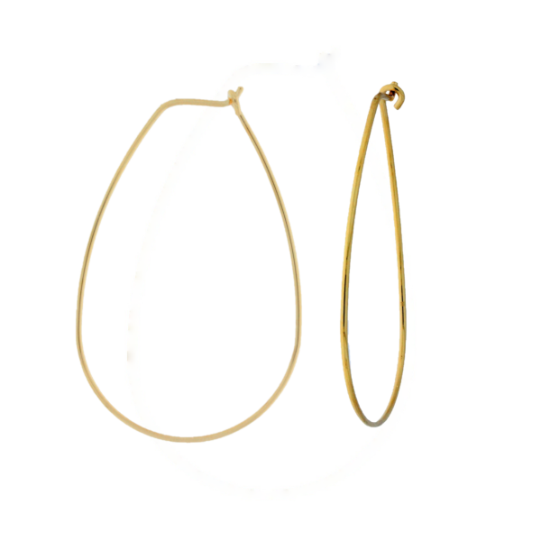 Onatah Mojo Gold Long Oval Wire Hoops Georgies Fine Jewellery Narooma, New South Wales