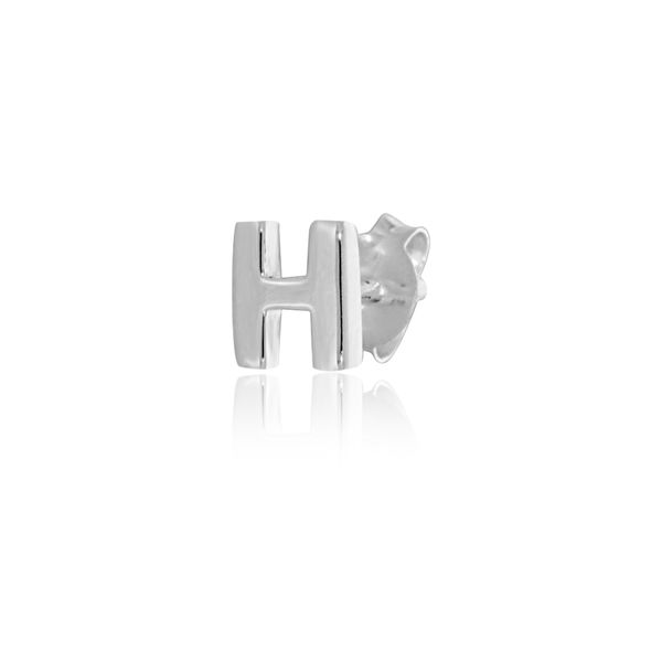 Mojo Silver Single Initial H Stud Earring Georgies Fine Jewellery Narooma, New South Wales