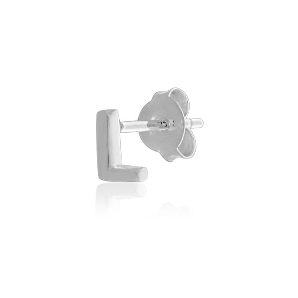Mojo Silver Single Initial L Stud Earring Georgies Fine Jewellery Narooma, New South Wales