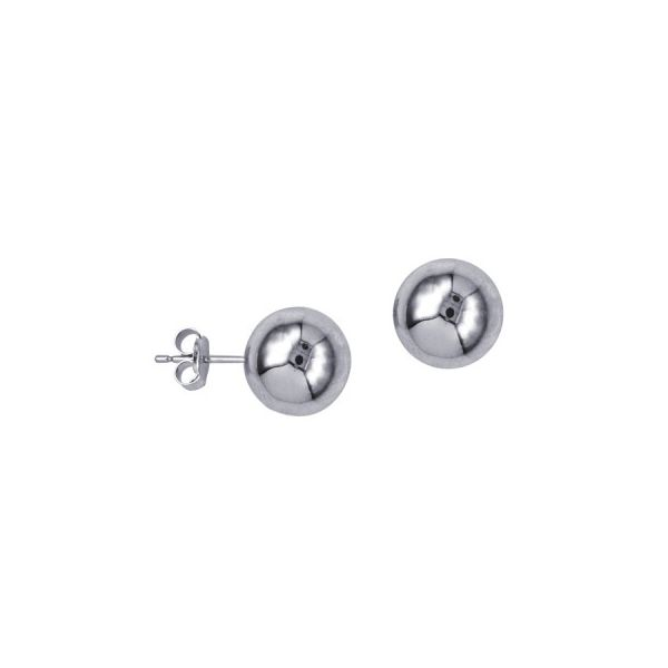 Sterling Silver 10Mm Ball Stud Earrings Image 2 Georgies Fine Jewellery Narooma, New South Wales