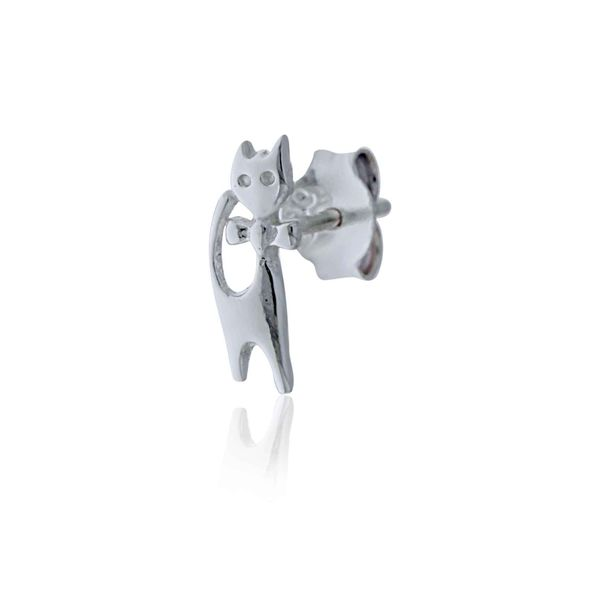 Silver Cat Stud Earrings Image 4 Georgies Fine Jewellery Narooma, New South Wales