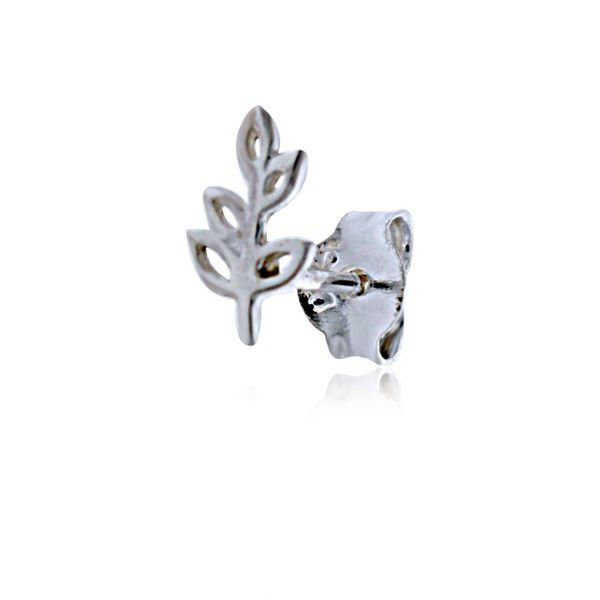 Mojo Silver Mini Open Leaves Stud Earrings Image 4 Georgies Fine Jewellery Narooma, New South Wales