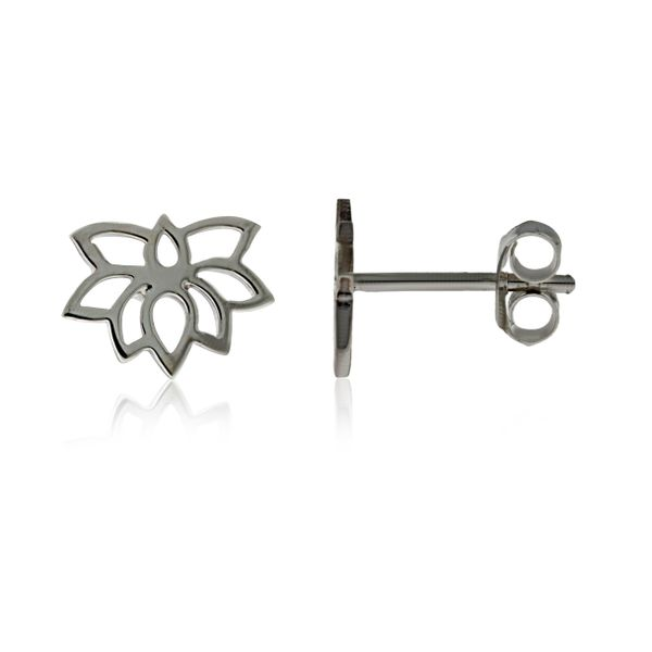 Silver Lotus Flower Studs Georgies Fine Jewellery Narooma, New South Wales