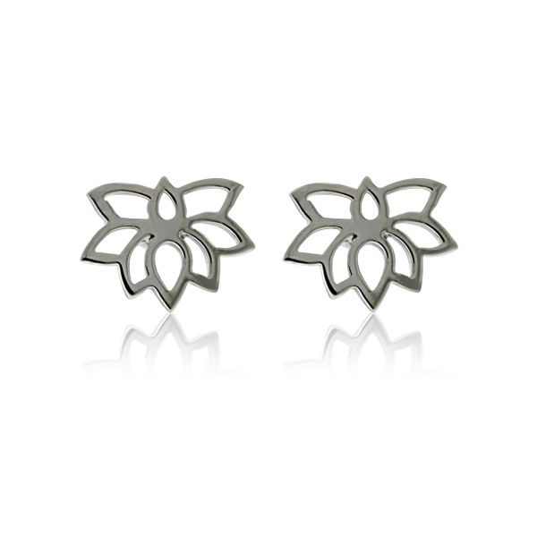Silver Lotus Flower Studs Image 2 Georgies Fine Jewellery Narooma, New South Wales