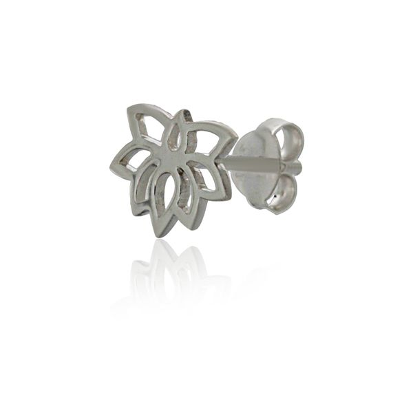 Silver Lotus Flower Studs Image 3 Georgies Fine Jewellery Narooma, New South Wales