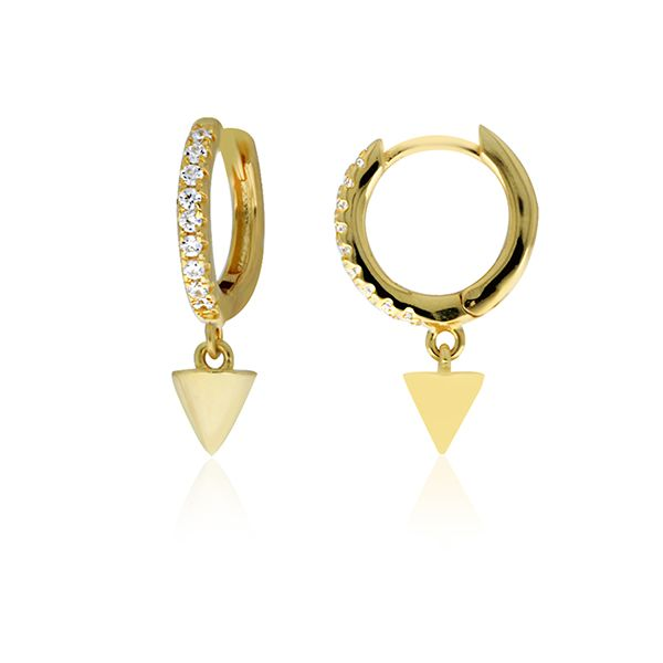 Silver Yellow Plated CZ Mini Spike Drop Earrings Georgies Fine Jewellery Narooma, New South Wales
