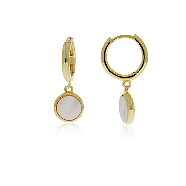 Yellow Plated Mother Of Pearl Drop Earring Georgies Fine Jewellery Narooma, New South Wales