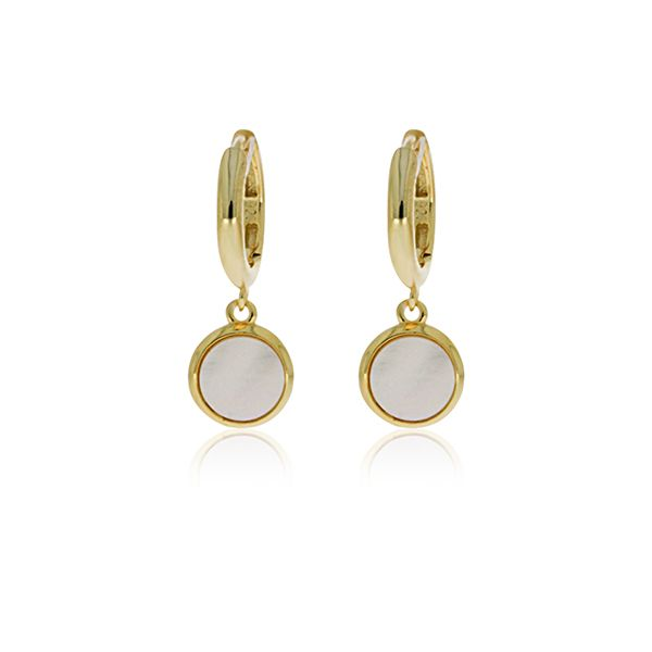 Yellow Plated Mother Of Pearl Drop Earring Image 2 Georgies Fine Jewellery Narooma, New South Wales