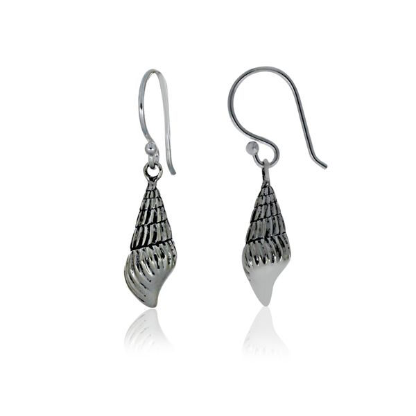Silver Shell Earrings With Shephooks Georgies Fine Jewellery Narooma, New South Wales