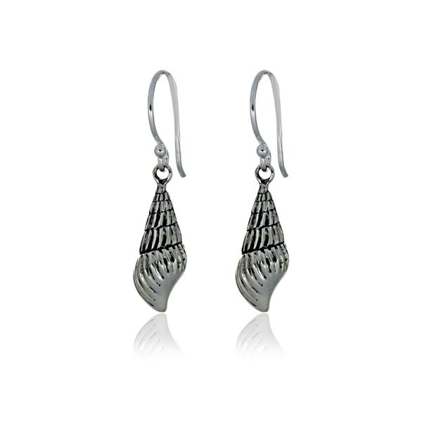 Silver Shell Earrings With Shephooks Image 2 Georgies Fine Jewellery Narooma, New South Wales