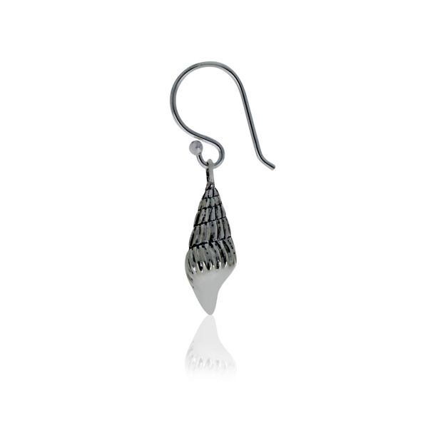 Silver Shell Earrings With Shephooks Image 3 Georgies Fine Jewellery Narooma, New South Wales
