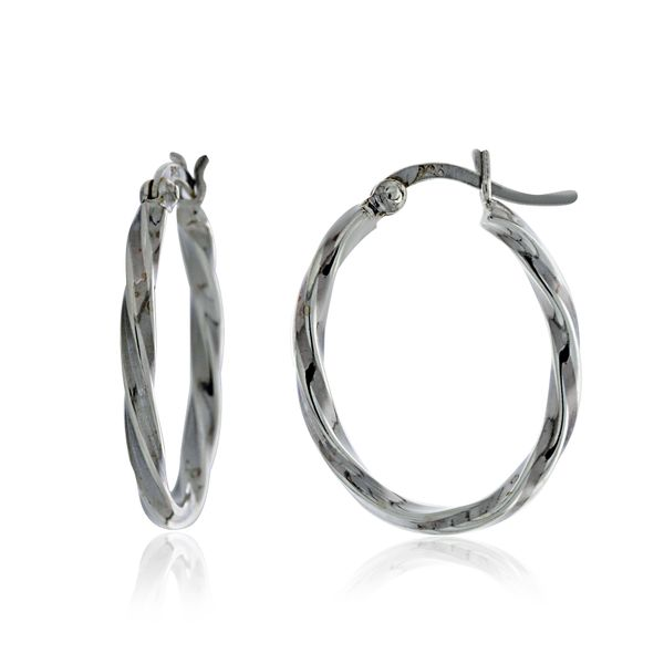 Silver Twist Oval Hoops Georgies Fine Jewellery Narooma, New South Wales
