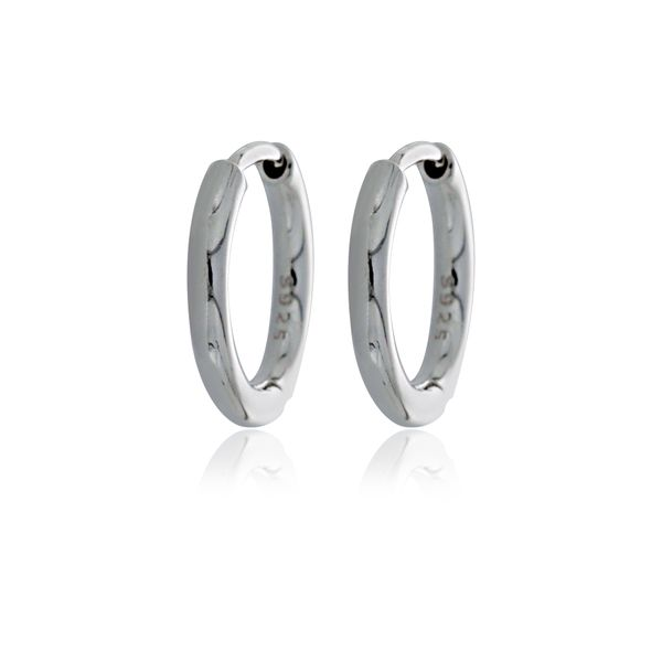 Silver Tube Huggie Earrings Image 2 Georgies Fine Jewellery Narooma, New South Wales