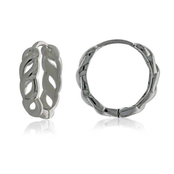 Silver Medium Open Twist Huggie Earrings Georgies Fine Jewellery Narooma, New South Wales