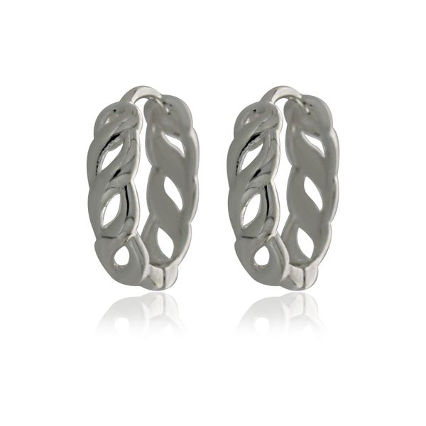 Silver Medium Open Twist Huggie Earrings Image 2 Georgies Fine Jewellery Narooma, New South Wales