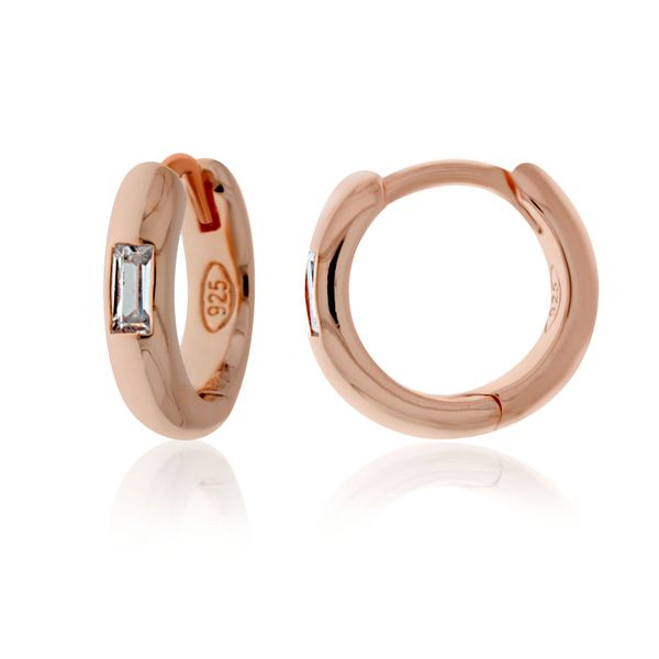 Rose Gold Plated Round/Half Round Huggie Georgies Fine Jewellery Narooma, New South Wales