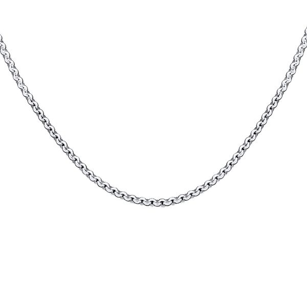 Silver Round Belcher Chain - 60cm Georgies Fine Jewellery Narooma, New South Wales