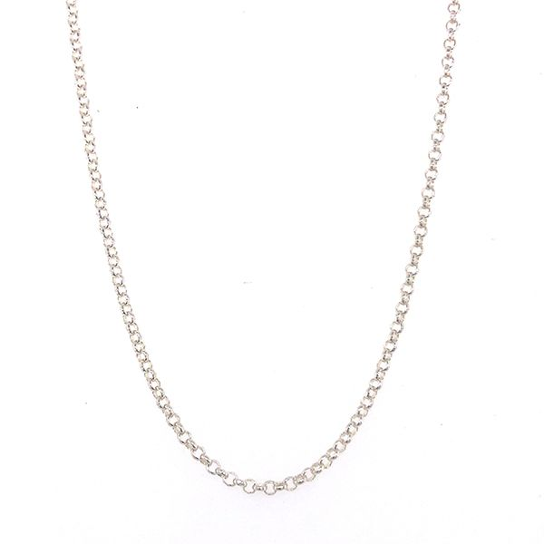 Silver Half Belcher Chain 50cm Georgies Fine Jewellery Narooma, New South Wales