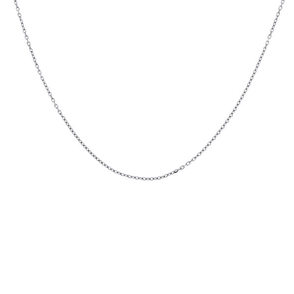 Silver Fine Cable Chain - 45cm Georgies Fine Jewellery Narooma, New South Wales